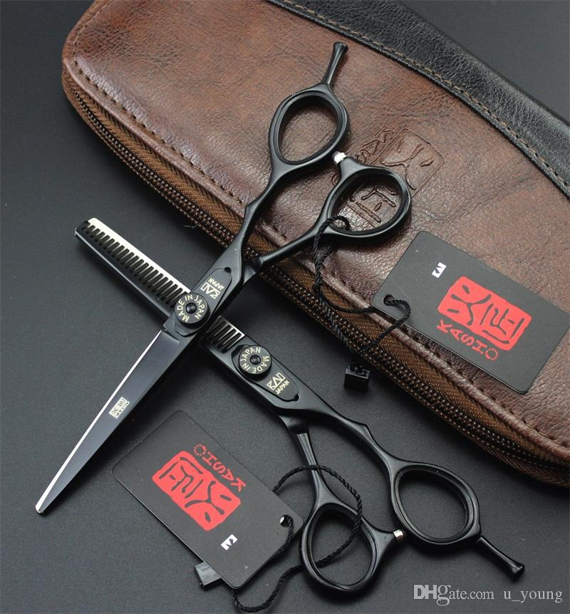 5.5 Inch Hair Scissors Stainless Steel Professional Barber Shop Haircut Cutting Thinning Shears 4 Colors Free Shipping