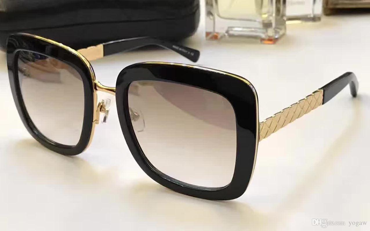 b0715cda10 Women Designer Square 5369 Sunglasses Gold Black Brown Gradient Len 53mm  Fashion Brand Sunglasses New with Case Brand Sunglasses Online with   68.58 Piece on ...
