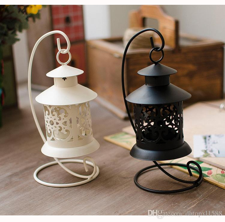 Iron Moroccan Style Candlestick European classical hollow Candleholder Candle Tea Light Holder Decor hot