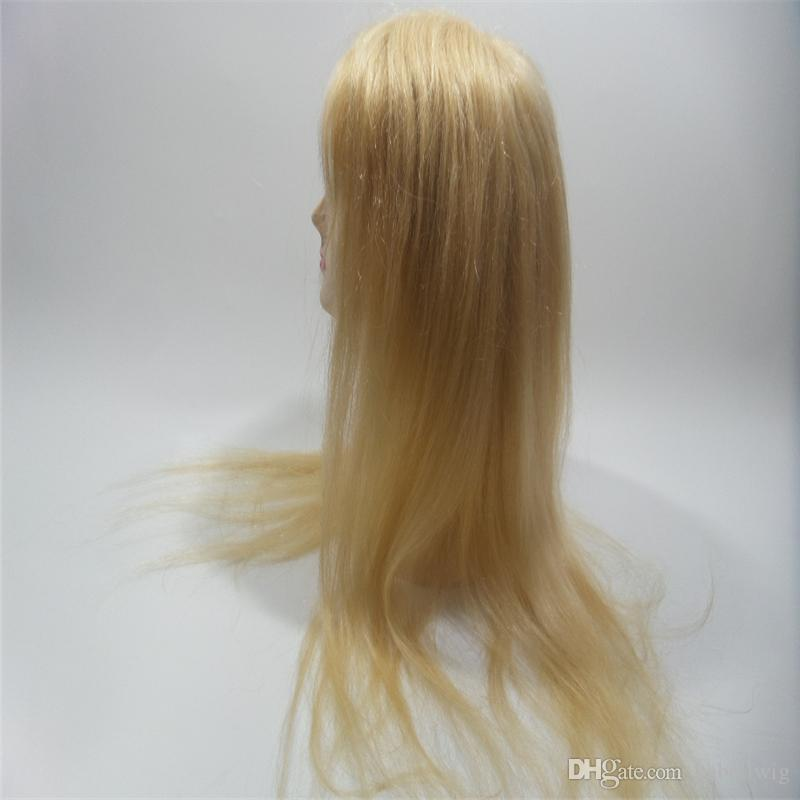 High Quality Blonde Hair 613# Is Full Of My Wig Shoelaces Without Tail Front Straight Hair Full Lace Wig Silk Weaving Wig Nature Kabell WIGS