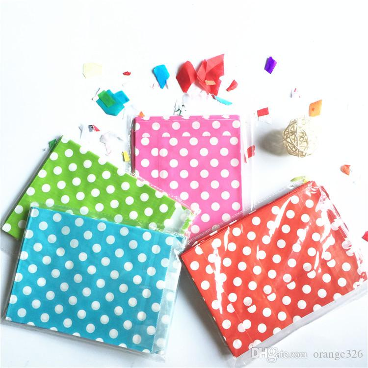 25Pcs/set Food Grease Proof Paper Bag polka dot spotty Kids Candy Buffet Favor Gift Wedding Birthday Party Supplies