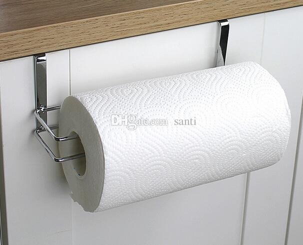 Bathroom Hardware Kitchen Paper Holder Hanger Tissue Roll Towel Rack Bathroom Toilet Sink Door Hanging Organizer Storage Hook Holder Rack