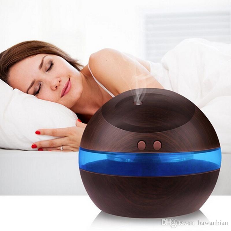 블루 LED 조명 무료 배송 도매 300 ㎖의 USB 초음파 가습기 아로마 디퓨저 디퓨저 미스트 메이커