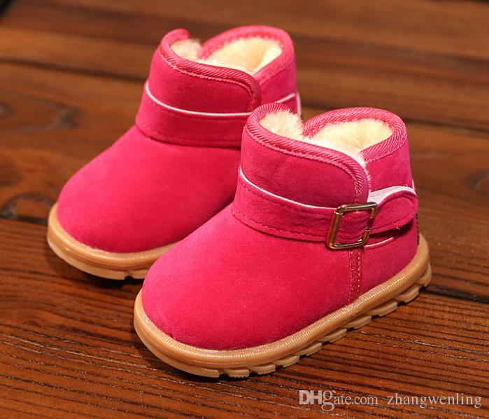NEW Hot Sale Boots Shoes Kids PU Patchwork Slip-resistant Fashion Martin Boots Girls boots