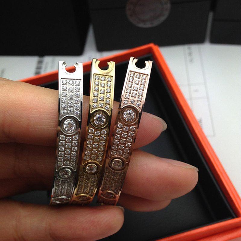 316L титана стали Любовь браслеты браслеты для женщин роскошные полный с cz камень Браслет puleiras любовь браслет мужчины ювелирные изделия