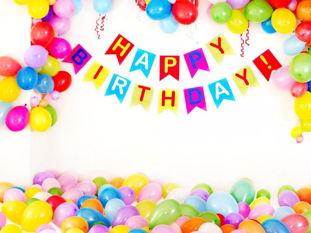 Balloon Birthday Cake Template