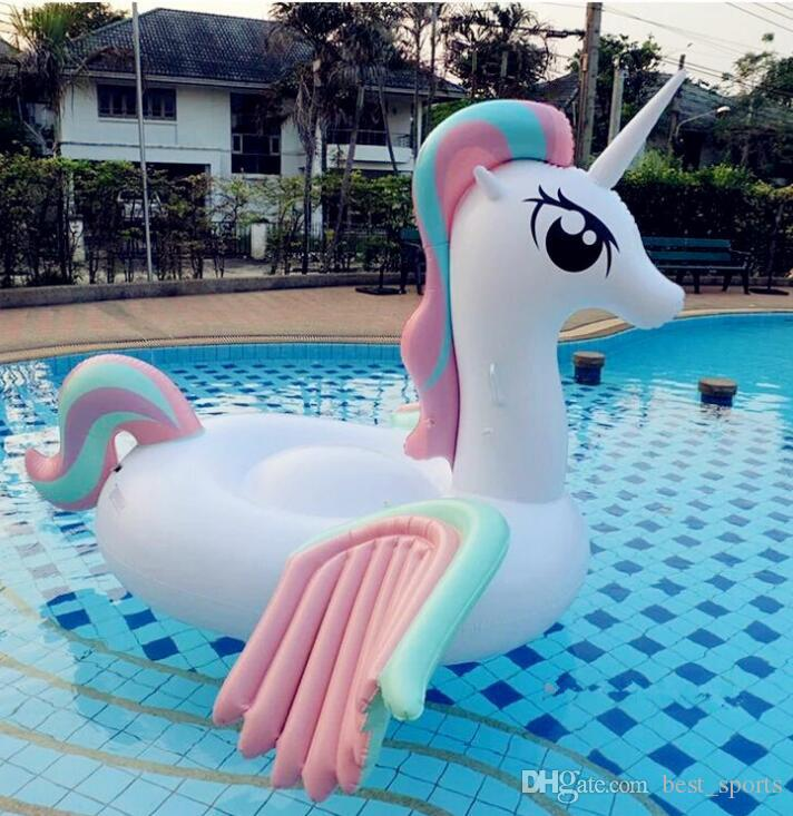 Attractive 2018 Giant Inflatable Pool Toy Unicorn Floats Cartoon Animal Riding On  Wings Toy Summer Outdoor Pool Party Lounge Tube Pool Toy Kka2219 From  Best_sports, ...