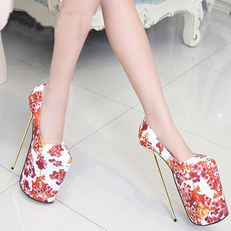 New Ladies High Milan Flower Stiletto Shoes