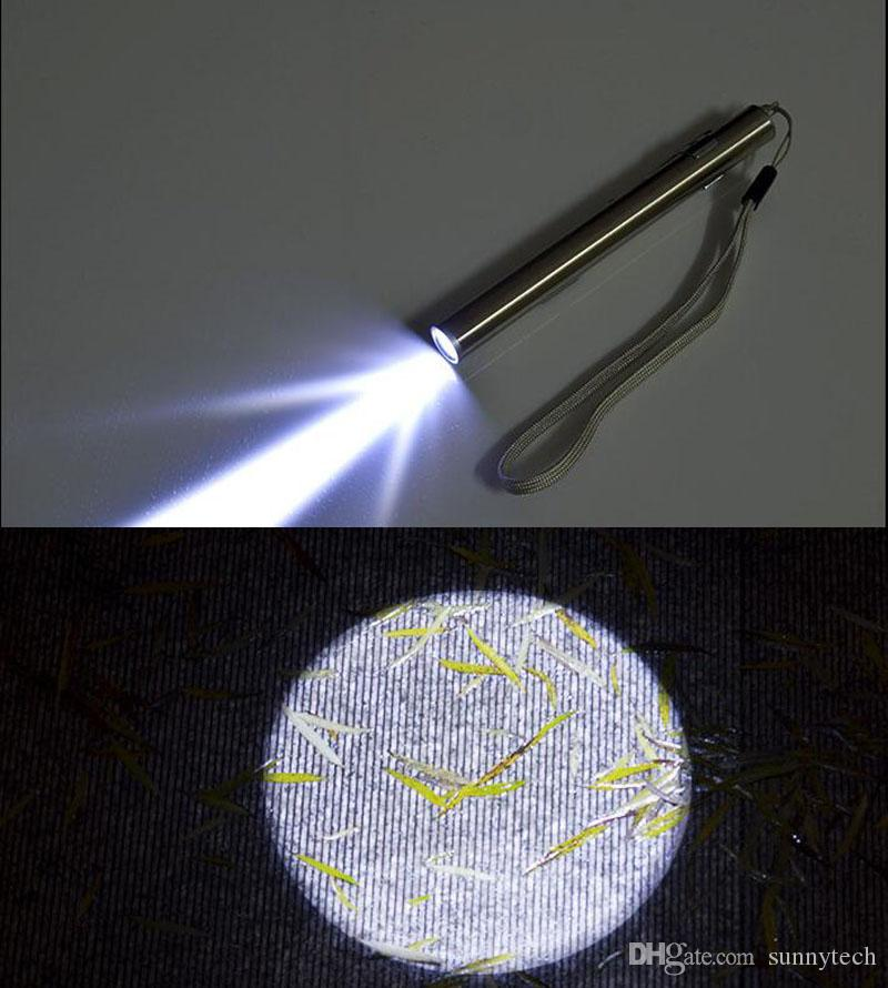 مصغرة الناقل التسلسلي العام غير القابل للصدأ بقيادة مصباح يدوي سلسلة المفاتيح القابلة لإعادة الشحن الشعلة القلم مشاعل المحمولة بقيادة مصباح التخييم في الهواء الطلق ضوء ZA2481