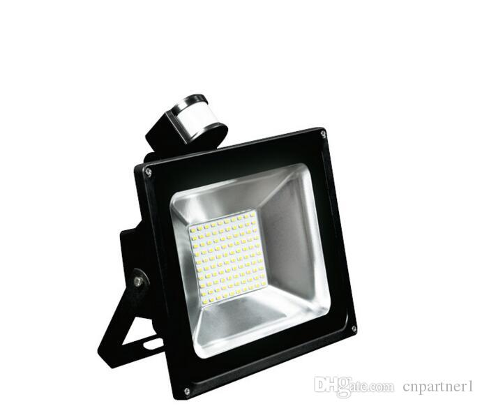 Manufacturers sell 10W 30W 50W PIR LED Floodlight Outdoor LED Flood light lamp with Motion detective Sensor spot projection lamp lighting