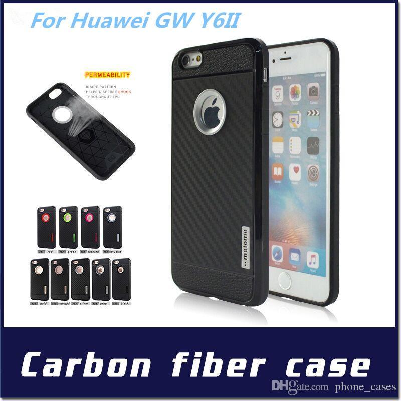 8571868f954 Diseños De Fundas Para Celular Para Huawei GW Y6II P9 Lite P8 Iphone 7 Plus  Para ZTE V7 Lite Caja De Fibra De Carbono Motomo Armor A Prueba De Golpes  Suave ...