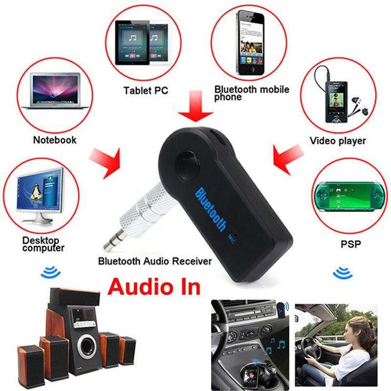 2016 Handfree Car Bluetooth Music Receiver Universal 3 5mm Streaming A2dp Wireless Auto Aux: 2019 Wireless Car Bluetooth Receiver Speaker Headphone Adapter 3.5MM Audio Stereo Music Receiver