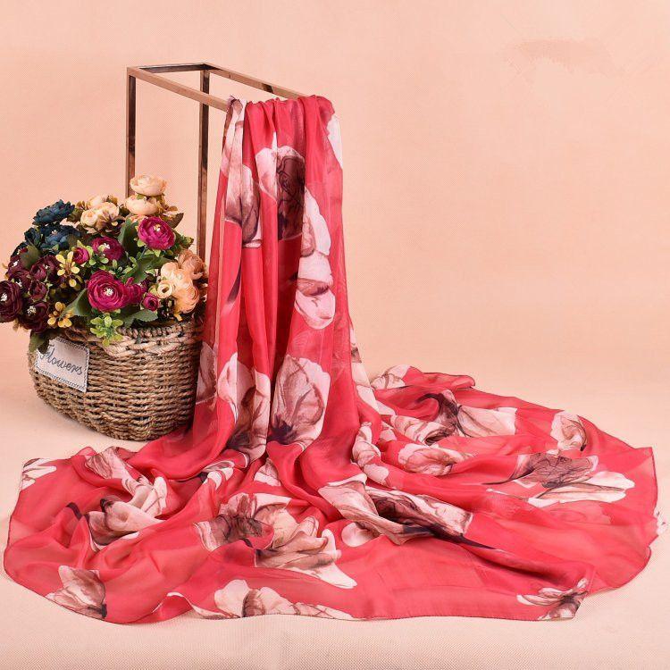 2017 Yeni Varış Kadın Eşarp Şifon Baskılı Çiçek Atkılar Infinity Eşarp Kız Sarar Pashmina Şal Hediyeler
