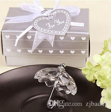 Crystal Wedding Favors Decoration Collection Umbrella Christening