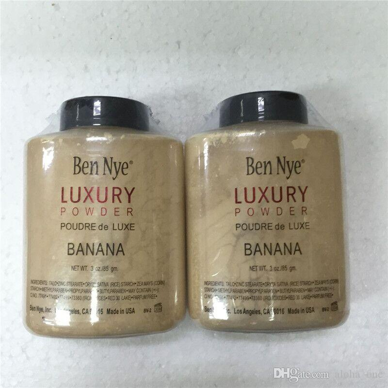 Neueste ben nye luxus pulver 85g neue natürliche gesicht lose pulver wasserdicht nahrhafte banane erhellen langlebig