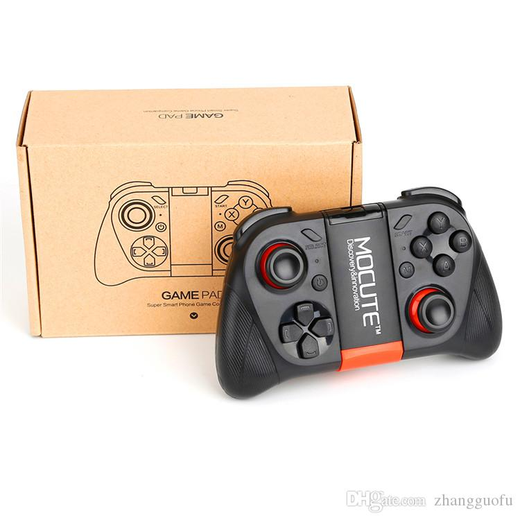 Game Controllers MOCUTE 050 Wireless Bluetooth Gamepad for Smartphone TV Box PC Tablet With Built-in Foldable Holder Joystick