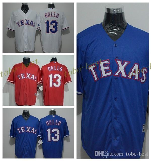 reputable site c54b1 2170f mens texas rangers 13 joey gallo 2014 red jersey