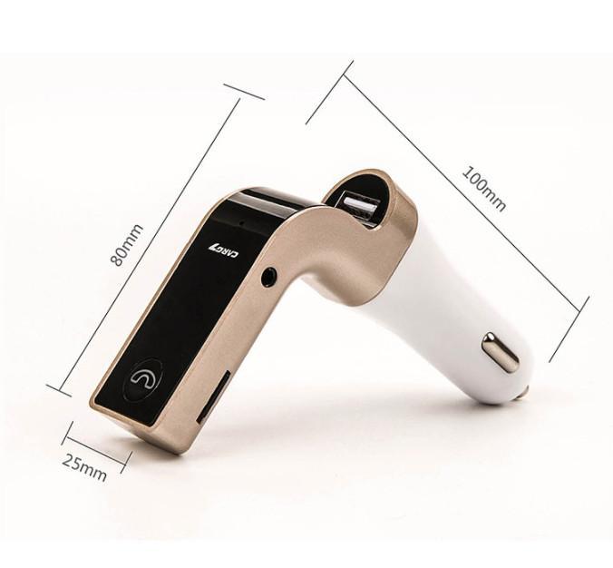 G7 Carregador de Telefone Bluetooth MP3 Player de Rádio Transmissor FM Modulador 2.1A Carregador de Carro Kit Sem Fio Suporte Micro TF Cartões ATP112