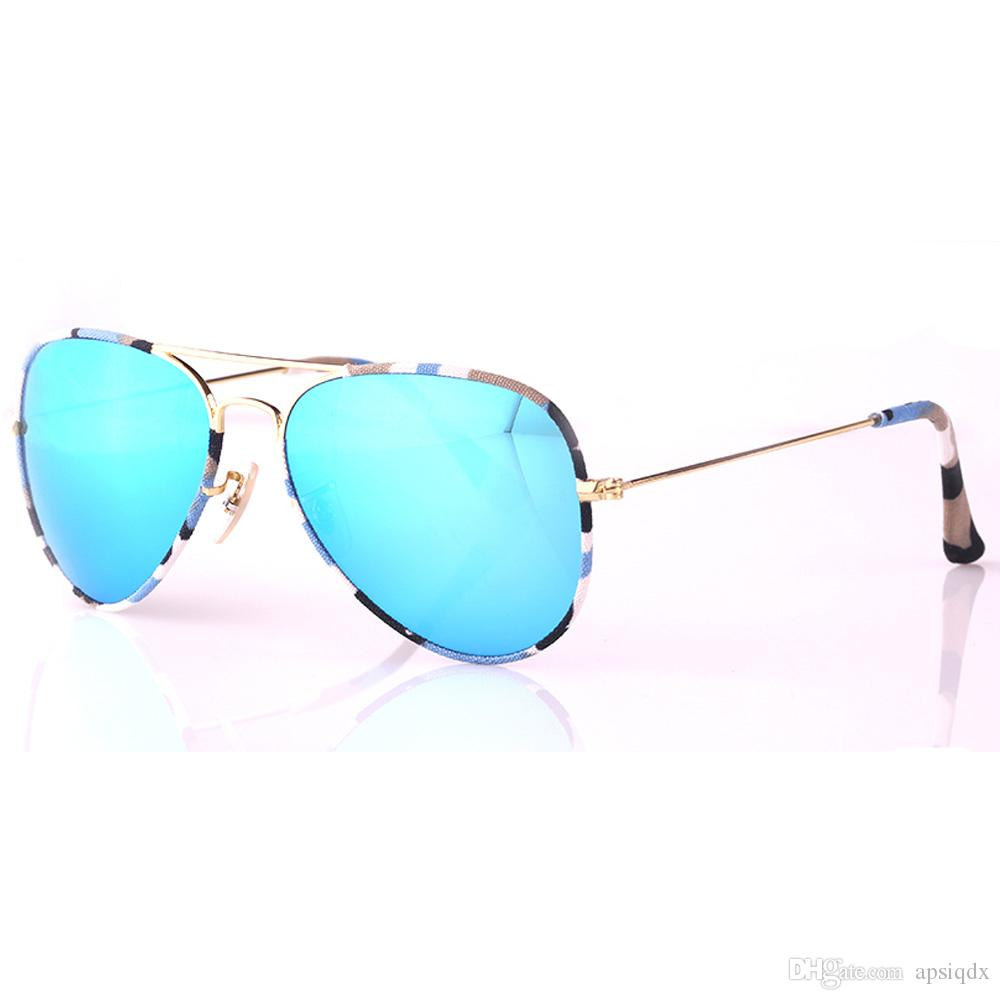 e777033df5 Top Quality Spring Summer Sunglasses Fall Winter Style Men Women Pilot  Sunglasses Camouflage Cloth Frame UV400 Protection Glass Lens Sunglasses  Online with ...