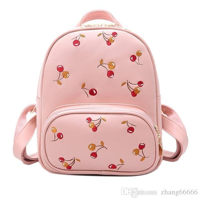 171c4f20427a Women Backpack With Cherry Printing Women S PU Leather Backpacks Small  School Bags Girls High Quality Designer Mochilas Kids Backpacks Dakine  Backpacks From ...