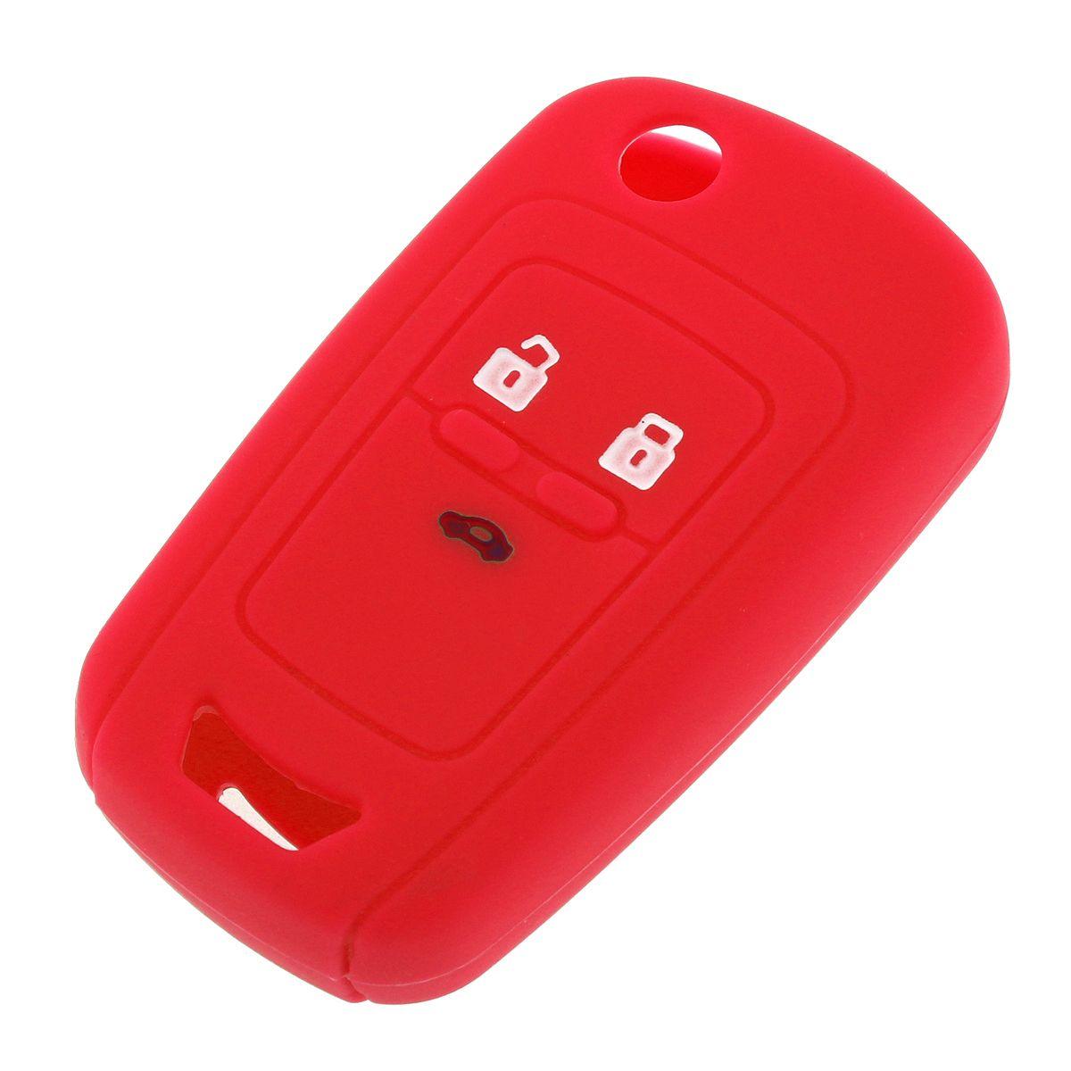 6 цветов 3 кнопки Силиконовый автомобиль дистанционного ключа чехол для Chevrolet Cruze Spark Onix Silverado Volt Camaro Aveo Sonic CIA_40A