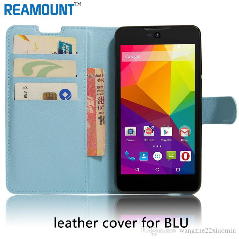 brand new e09b1 a7b6c Colorful Wallet Case for BLU Dash M2 for BLU Advance 5.0 with Card Slot  Holder Stand for BLU Dash M Back Cover