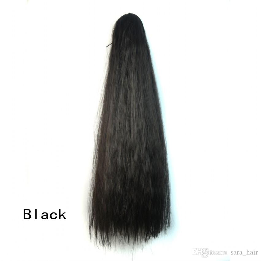 Sara Fluffy Hair Style Claw Clip in Kinky Curly Ponytails Long 60CM,24Inch Synthetic Hairpiece Pony Tail Horsetail