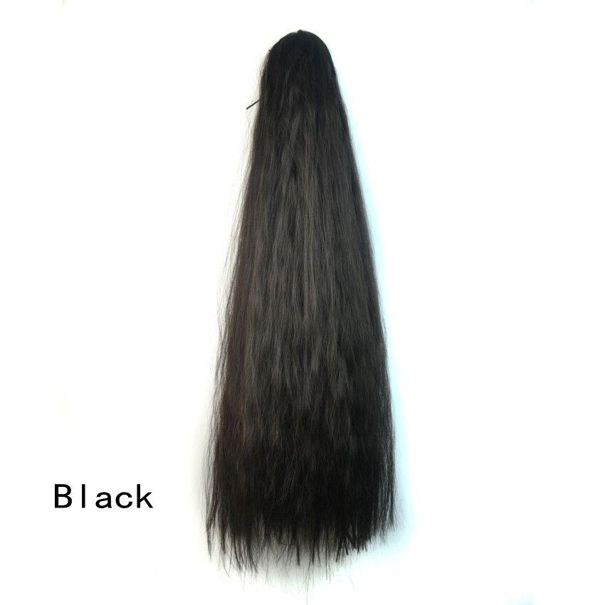 Sara Fluffy Hair Style Garra Clip en cola de caballo rizado rizado largo 60CM, 24 pulgadas cola sintética cola de caballo cola de caballo