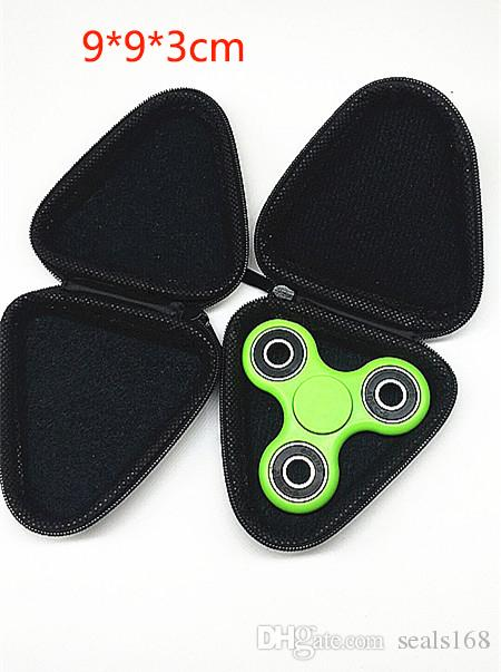 Eva Square Round Fidget Spinner Toys Pouch Storage Bags Bluetooth Headset Phone Cable USB Bags Case Gifts Housekeeping Organization HH-T01