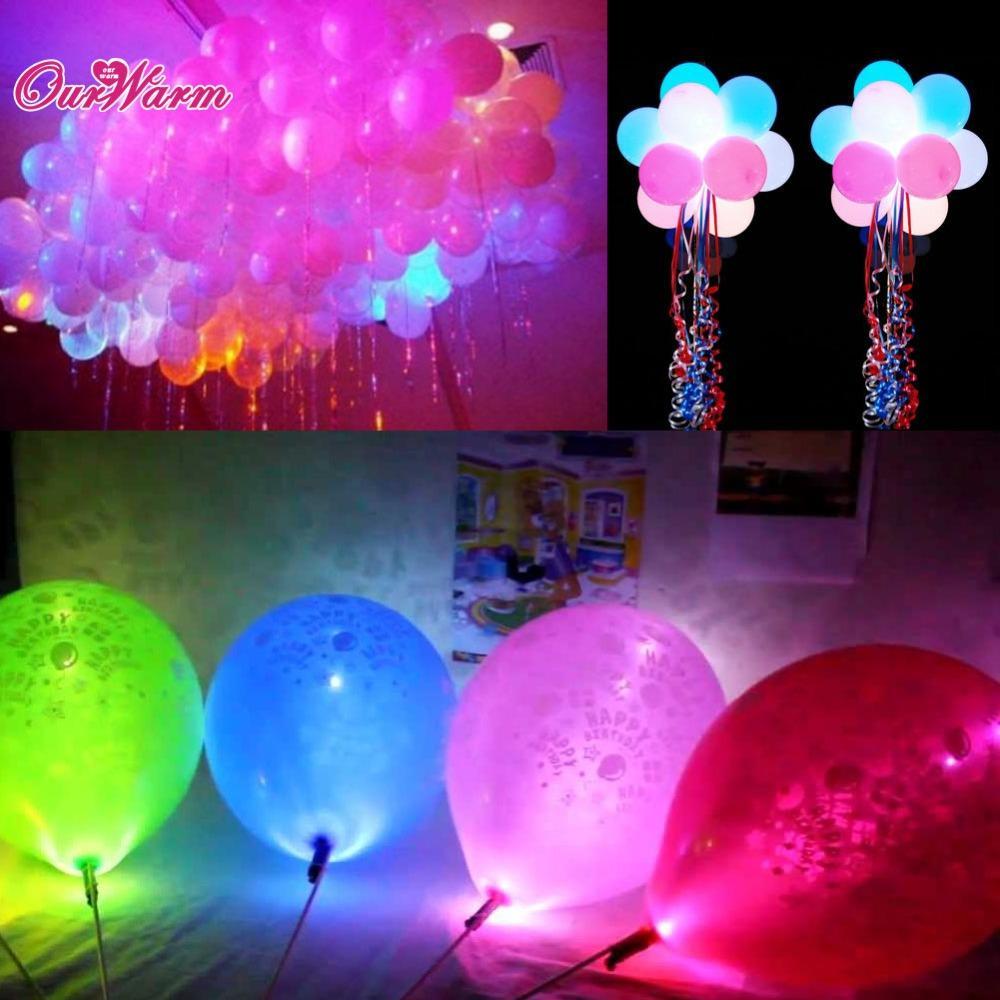 Großhandel 1000 Teile / Los Bunte Led Lampen Ballon Lichter Für  Papierlaterne Ballon Weihnachtsfeier Dekoration Halloween Dekorationen Von  Hk_bonroy, ...