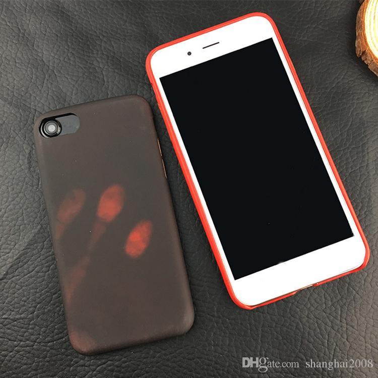 2017 neue thermosensitive farbwechsel case magische pu fingerprint rückseitige abdeckung sensing thermal sensor heat shell für iphone 6 s plus 7 plus