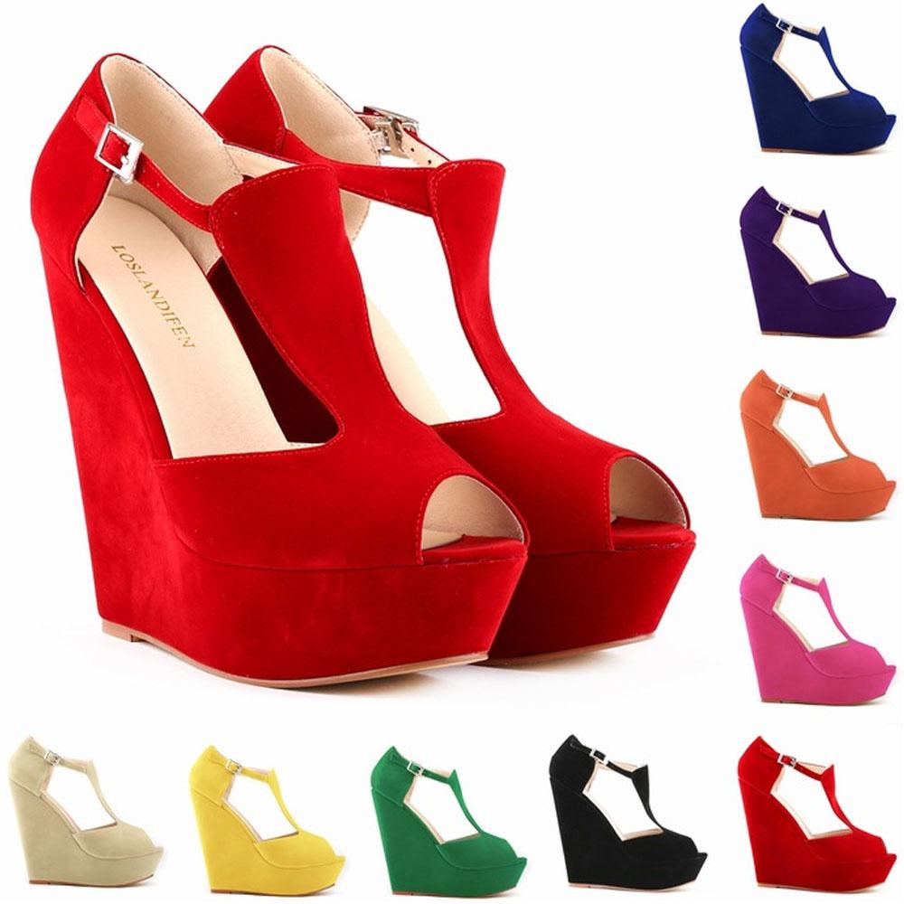 6c12364660f Sapato Feminino Womens Ladies Platform Peep Toe Wedges Exclusive High Heels  Women Shoes US Size 4 11 D0090 Wedge Shoes Casual Shoes For Men From  Tauren