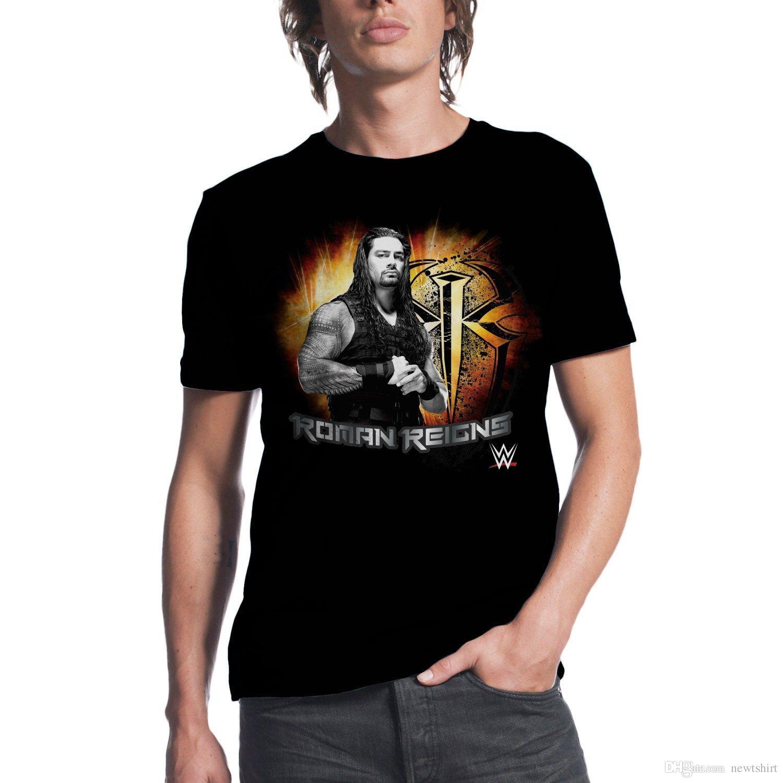 Roman Reigns Mens Black Cotton T Shirt Men 2017 Summer Fashion New ...