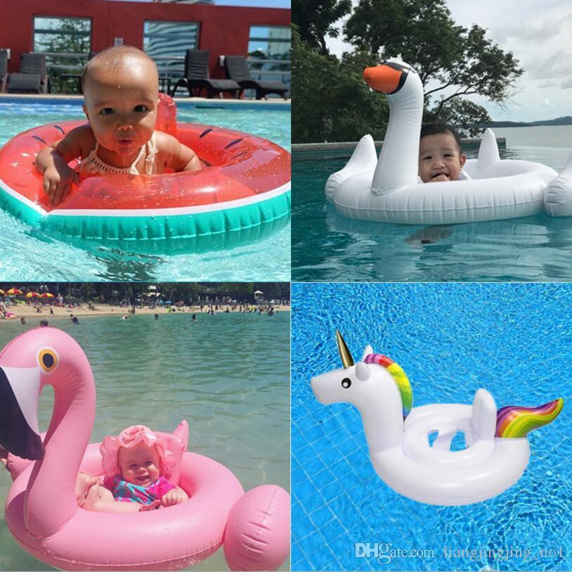 2017 Baby Inflatable Pool Float Flamingo Swan Watermelon Unicorn Pegasus  Water Swimming Swim Ring Pool Toy Kids Life Ring 4 Styles Ooa2094 From  Jfight, ...