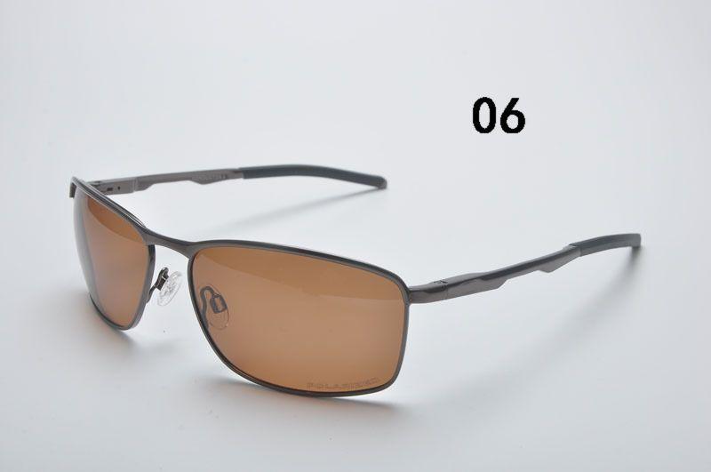 Condutor Design Homens Clássico Marca Aviação Ciclismo Eyewear Óculos De Sol Lente Polarizada de Alumínio De Condução De Luxo óculos de Sol