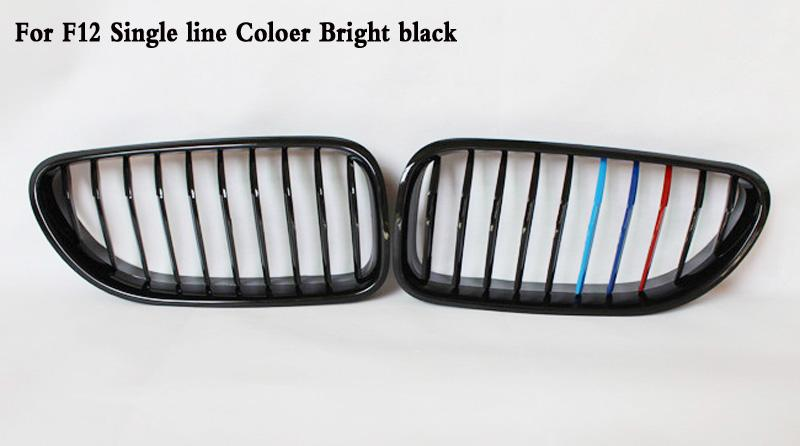 Single line Bright black Front Kidney Grille Fit For BMW 6-Series F06 F12 F13 M6