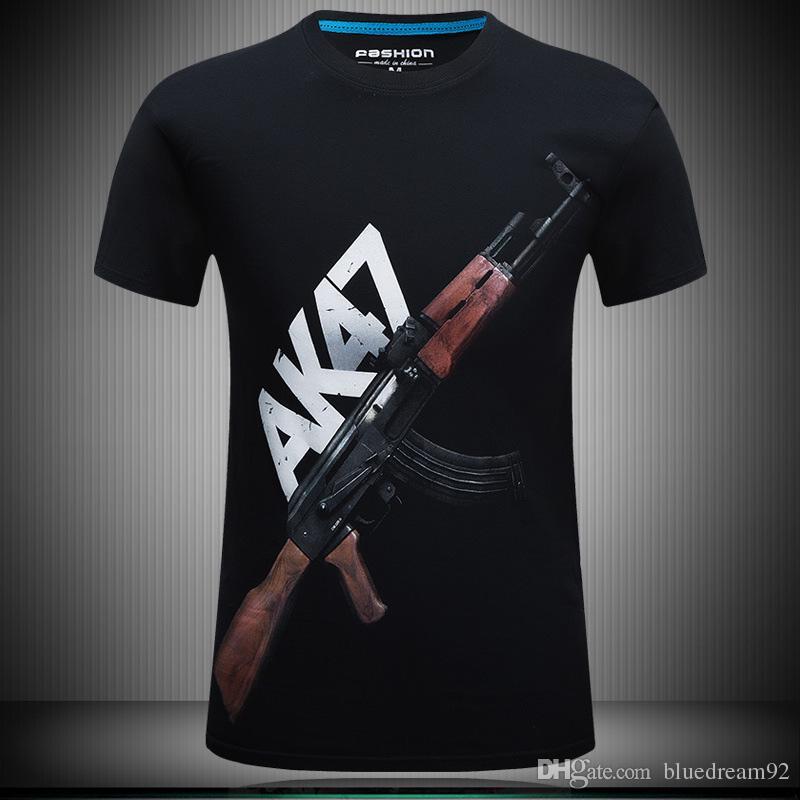 1787a6050fe54 Summer New Designer Mens T Shirts Militia 3d Tee Shirts Men Short Sleeved  Fat Plus Size Clothes T Shirt Guy Printed T Shirts For Men T Shirt Site  Online ...