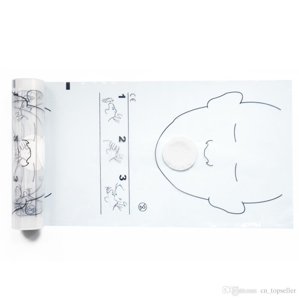 CPR Face Shield CPR Face Mask Mouth to Mouth Provent Touch للتدريب على الإسعافات الأولية ، 36 قطعة / لفة ، 20 لفة
