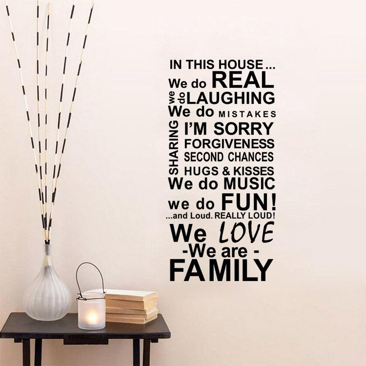 Aw9452 In This House Quote Wall Decals House Rules Removable Vinyl
