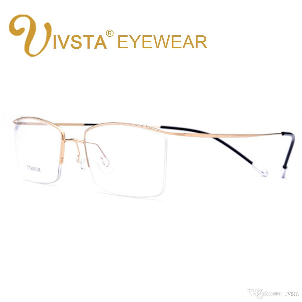 927d592de3 2019 IVSTA Titanium Glasses Men Memory Eyeglasses Optical Frame Spectacle  Eyewear Women Prescription Reading Myopia Semi Rim Brand From Ivsta