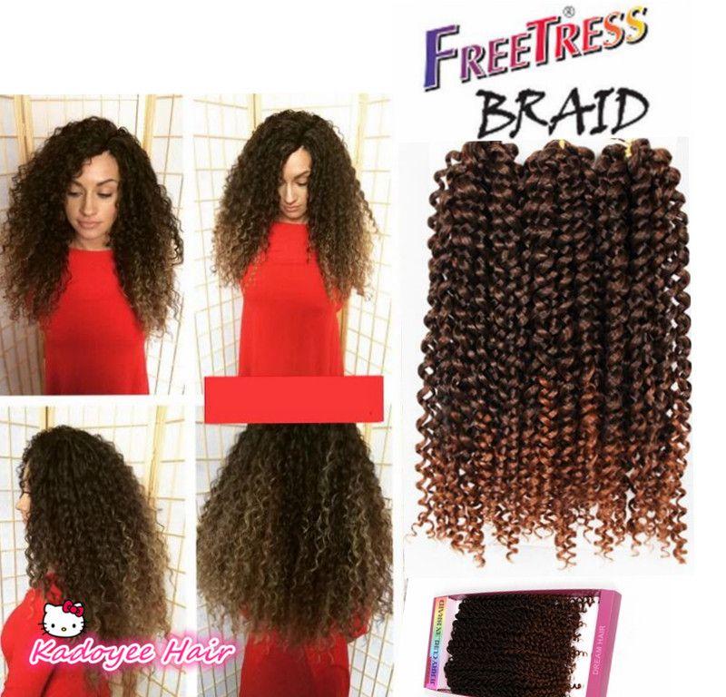 2018 Savana 3x Box Braids Brazilian Deep Curly Ombre Hair Weave