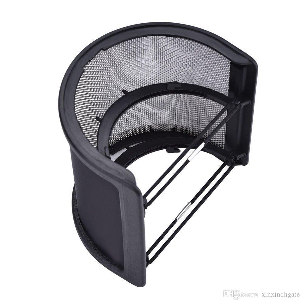 듀얼 레이어 레코딩 스튜디오 마이크로폰 마이크 윈드 스크린 팝 필터 마스크 실드