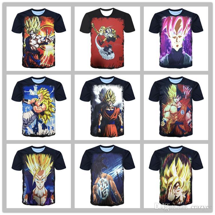 fea53bda848 Dragon Ball Z T Shirts Mens Summer Fashion 3D Printing Super Saiyan Son Goku  Black Zamasu Vegeta Dragonball T Shirt Tops Tee Awesome T Shirt Design Shirt  .
