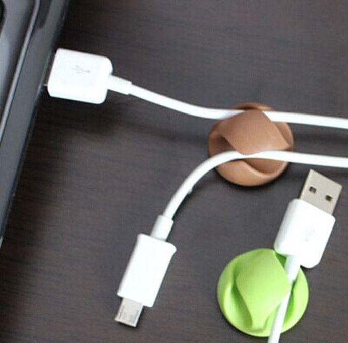 DHL-Kabel-Klipp-Schreibtisch-ordentlicher Draht-Tropfen-Blei-USB-Aufladeeinheits-Schnur-Halter-Organisator-Halter-Linie Zusätze