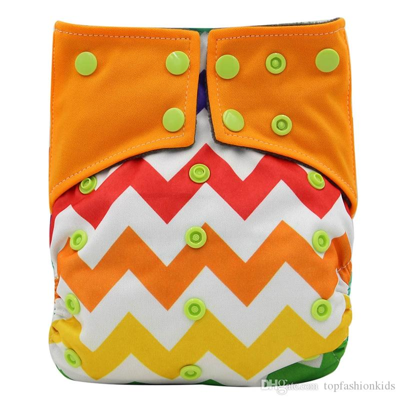 Cloth Diapers 2019 Brand All-in-two AI2 Diaper Covers Waterproof Double Gusset Bamboo Charcoal Pocket Diapers Nappy
