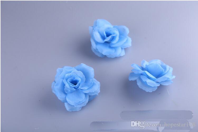 Eco-Friendly 8cm artificial de Rose Cabeza de flor de la boda de la decoración del hogar Mayorista puede elegir Blanco Rojo Rosa rosa