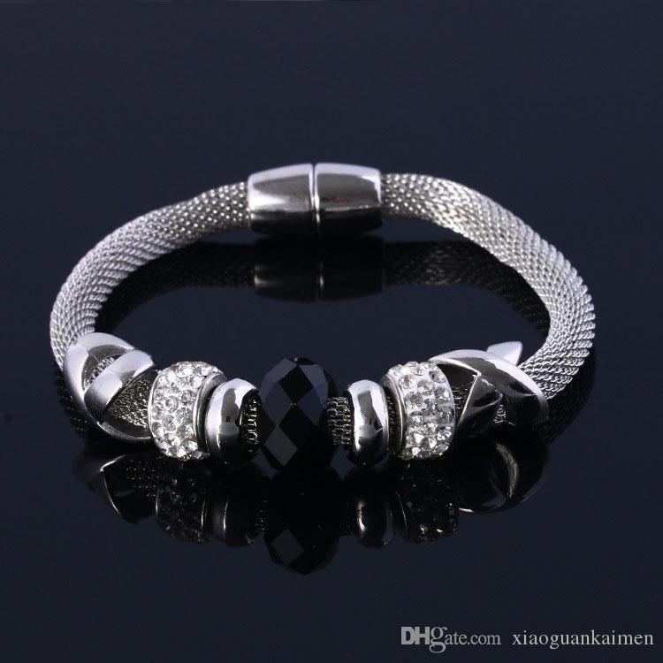 New Fashion Disco Ball Bettelarmband Für Frauen GlassCrystal Europäischen Charme Weihnachten bead armbänder Geschenk Schmuck