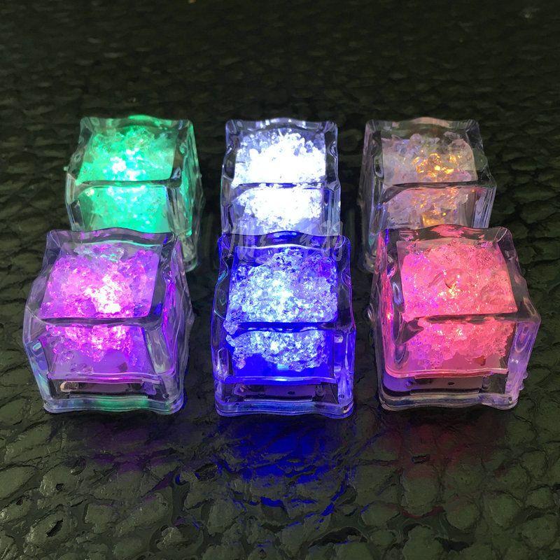 Bar Partito Attività Decora colorato lustro LED Ice Block Water Cube induzione luminosi di luminescenza Ices Blocchi ordine di prova 0 98px C