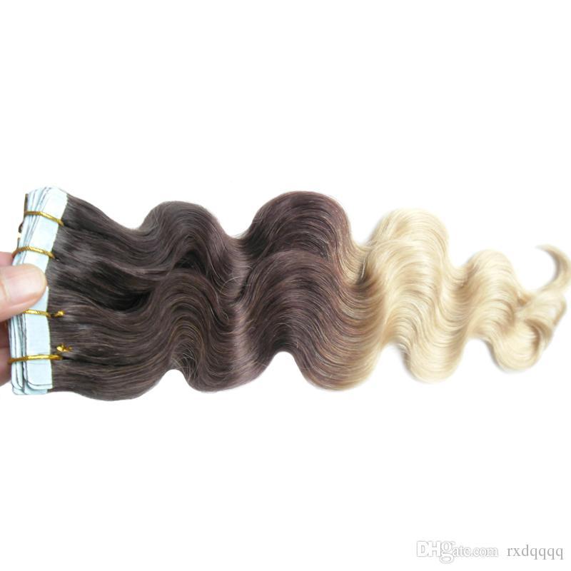 Ombre cheveux brésiliens 100g corps vague # 4/613 vierge brésilienne bande de cheveux dans les extensions de cheveux humains