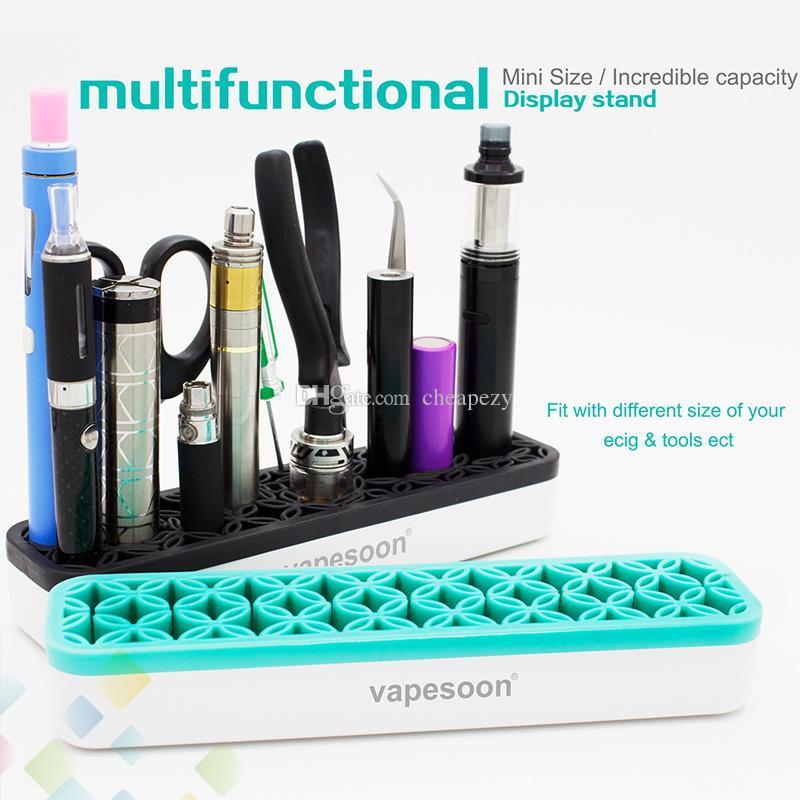 Il più nuovo espositore multifunzionale di plastica + materiale siliconico e supporto sigaretta atomizzatori mods pinzette batteria molti strumenti DHL Free